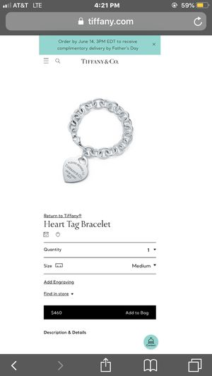 Heart tag bracelet for Sale in Cromwell, CT