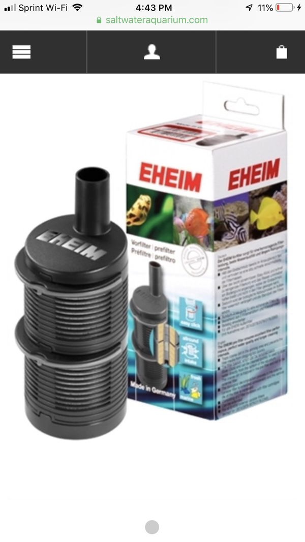EHEIM- Prefilter for External Canister and Powerhead - Brand new, in box! Retails $16, asking $6