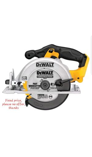 Dewalt DCS391B 20V MAX Cordless Lithium-Ion 6-1/2 in. Circular Saw (Bare Tool battery or Charger no included) for Sale in Upper Marlboro, MD