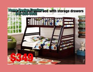 twin over full bunk bed with storage drawers for Sale in Queens, NY