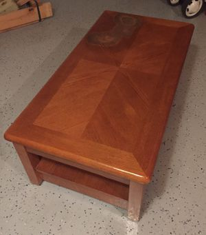 Solid Wood Table w/ Rising Top, burn mark for Sale in Cleveland, OH