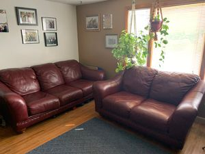 100% leather couch and loveseat for Sale in Buffalo, NY