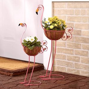 Sets of 2 Bird Metal Planters With Coconut Fiber Baskets for Sale in Las Vegas, NV