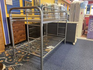 New Silver Twin Bunk Bed Frame for Sale in Virginia Beach, VA