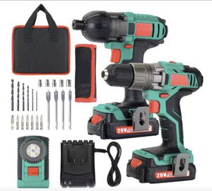 Brand New in Box Cordless Drill Driver 18V 35Nm and Impact Driver Drill Combo Kit, 2x1.5Ah Batteries,1H Fast Charging,300/150lm LED Flashlight,22PCS for Sale in Hayward, CA