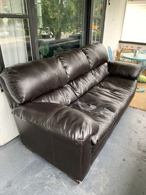 Faux leather couch 37H 42D 89L for Sale in Buffalo, NY