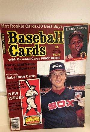 Baseball Cards Magazine Fall 1983 Issue #6 for Sale in Whittier, CA