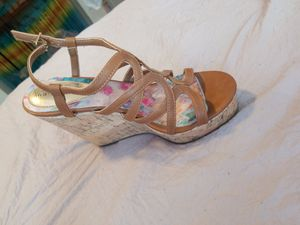 Tan leather Wedge Heels for Sale in Littleton, CO