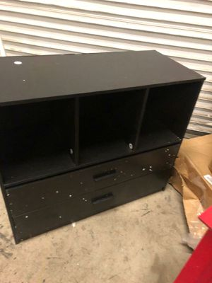 3 cube organizer with 2 drawers assembled minor damage for Sale in Fort Worth, TX