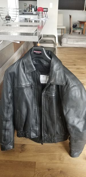 Leather Motorcycle Jacket (Triumph label) for Sale in Gig Harbor, WA