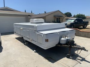 1999 Coleman pop tent camper with slide out and AC for Sale in Riverside, CA