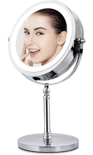 6-002 Magnifying Mirror with Lights, Lighted Makeup Mirror 10X Magnification, Vanity Mirror with Lights, Double Sided 360 Rotation Polished Chrome Fi for Sale in San Diego, CA