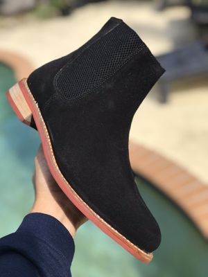 DS Samuel Windsor Prestige Collection Suede Chelsea Boot US Mens Size 9.5 Black Red Dress Tuxedo Fashion Wedding for Sale in Miami, FL