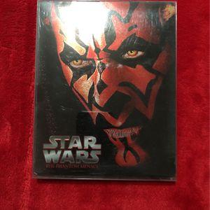 Star Wars The Phantom Menace Blu Ray Steel Book Blu-ray Steel Starwars for Sale in Los Angeles, CA