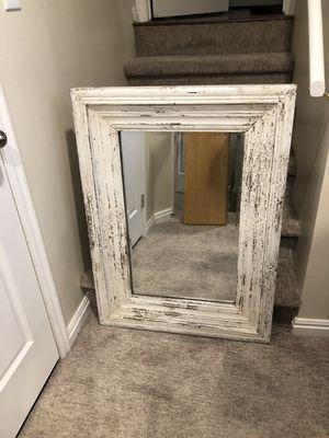 Beautiful Huge White Farmhouse Beveled Mirror! for Sale in Draper, UT