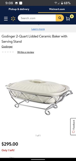 Godinger Ceramic Baker with Rack for Sale in Gilbert, AZ
