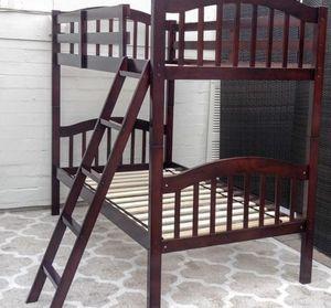 Gorgeous Solid Wood Espresso Twin Bunk Bed Set Bunkbeds for Sale in Phoenix, AZ