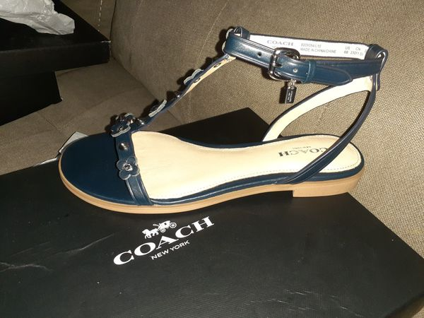 NIB Coach Navy Blue Sandals