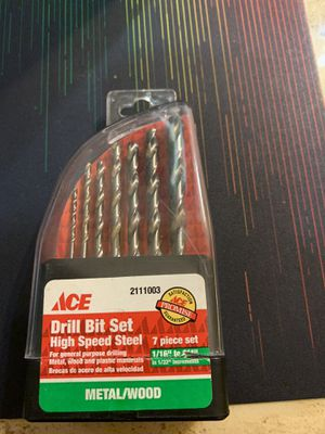"""Ace #2111003 High Speed Steel 7-Piece Drill Bit Set Metal/Wood (1/16"""" to 1/4) for Sale in Loganville, GA"""