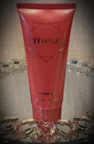 Perfumed TOPAZ SHOWER GEL French/France w/ Designer Name Brand Authenticity Guarantee Hologram Showing LUX FULL SZ 5 oz for Sale in San Diego, CA