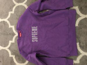 "Supreme ""World Famous"" Crewneck purple medium for Sale in Hayward, CA"