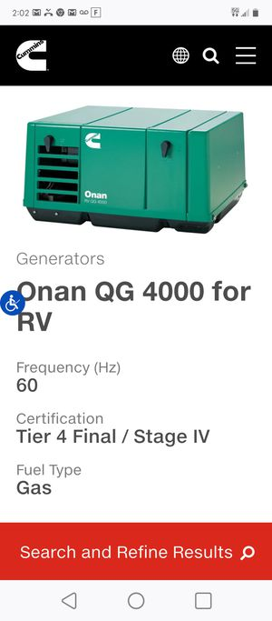 4000w generator for Sale in Citrus Heights, CA