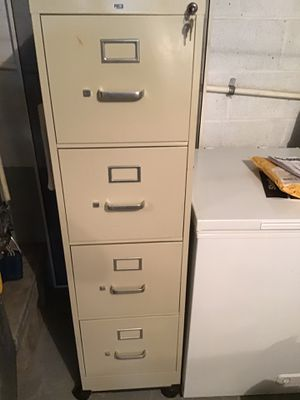 HON 4 Drawer Metal File Cabinet With Key and Wheeled Platform for Sale in Washington, PA