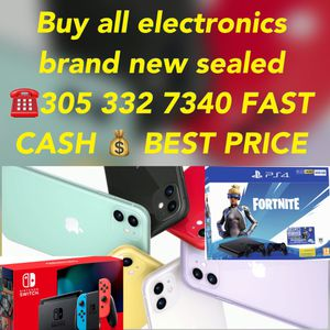 Buy all electronics brand new sealed PS4 pro slim Nintendo switch iPhone 11 iPads & more info call now ☎️fast cash 💰 for Sale in Miami Lakes, FL