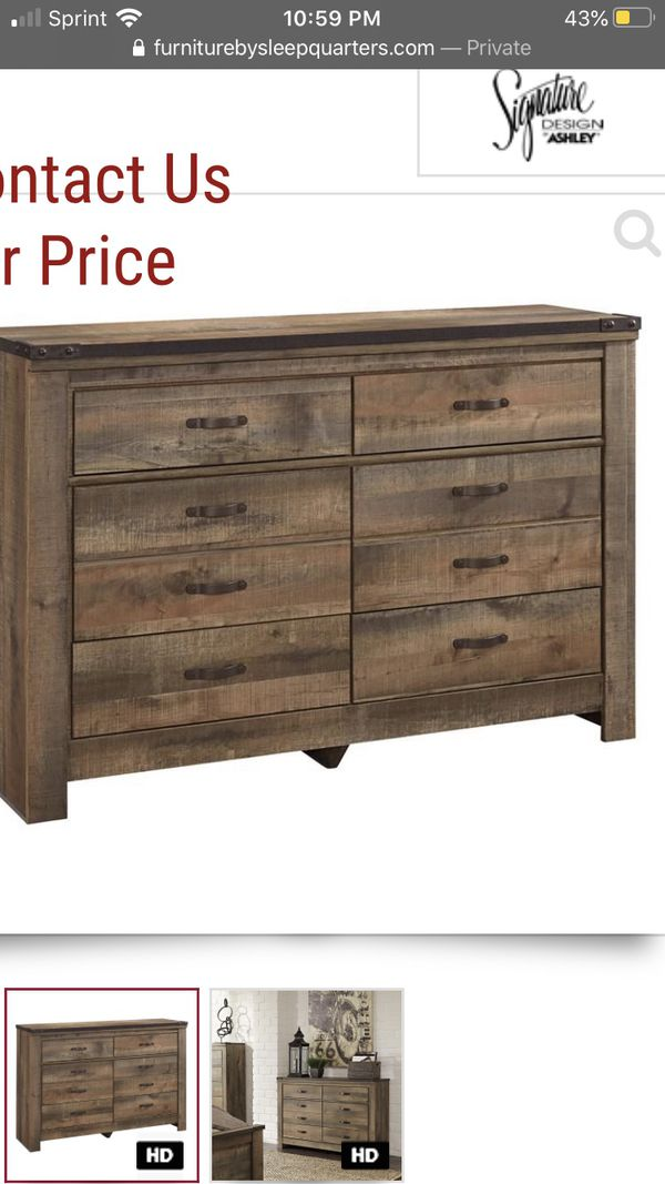 """Rustic farm style 8 drawer dresser in the box purchased And didn't fit where I was going to put it """" price to sell $250"""