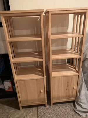 Three shelf book case with cabinet. (Two - Matching) for Sale in Nahant, MA