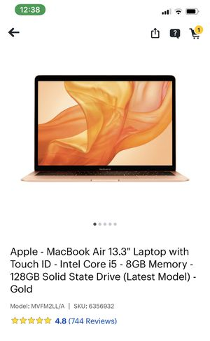 """MACBOOK AIR 13"""" I5 8GB MEMORY 128GB SSD for Sale in Columbia, MD"""