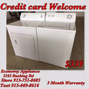 Whirlpool washer heavy duty large and electric dryer set for Sale in El Paso, TX