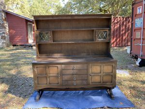 Antique china/dining buffet console cabinet for Sale in Taylor, TX