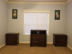 Media chest and matching side tables with drawers for Sale in Little Rock, AR