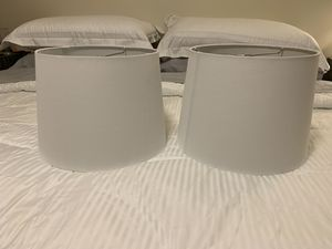 White lamp shades (new) for Sale in Fresno, CA