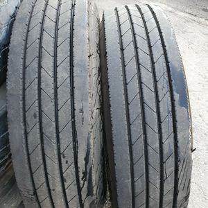 (2) 295 75 22.5 Steer Tires for Sale in South Gate, CA