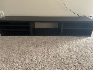 Black TV Stand - 71 inches x 15 inches for Sale in Livermore, CA
