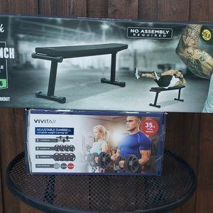 Workout Bench & Dumbbells Set for Sale in Los Angeles, CA