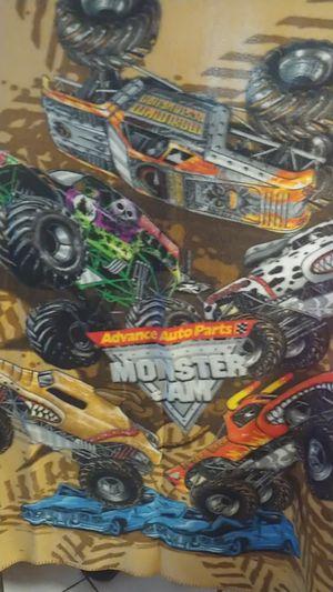 Monster jam blanket for Sale in Hernando Beach, FL
