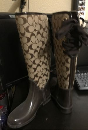 COACH rain boots size 7 for Sale in Oakland, CA