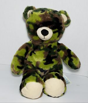 """16"""" Build a Bear Camouflage Teddy Green Plush Military Army Stuffed Toy BABW for Sale in San Marcos, TX"""