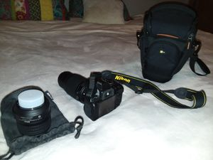 This is was a $800 bundle $ 350 good price 5100 D NIKON with 55-200MM 18-55MM LENSES Chager batteries and camera cases as well! for Sale in Rivergrove, OR
