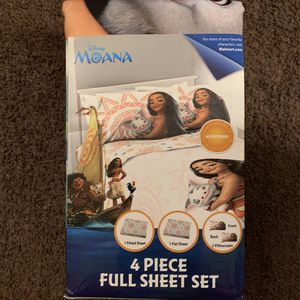 Moana 4pc Full Sheet Set for Sale in Compton, CA