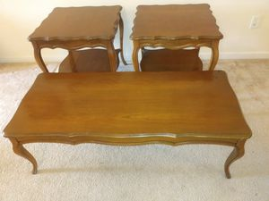 3 piece French Provincial living room tables for Sale in St. Louis, MO