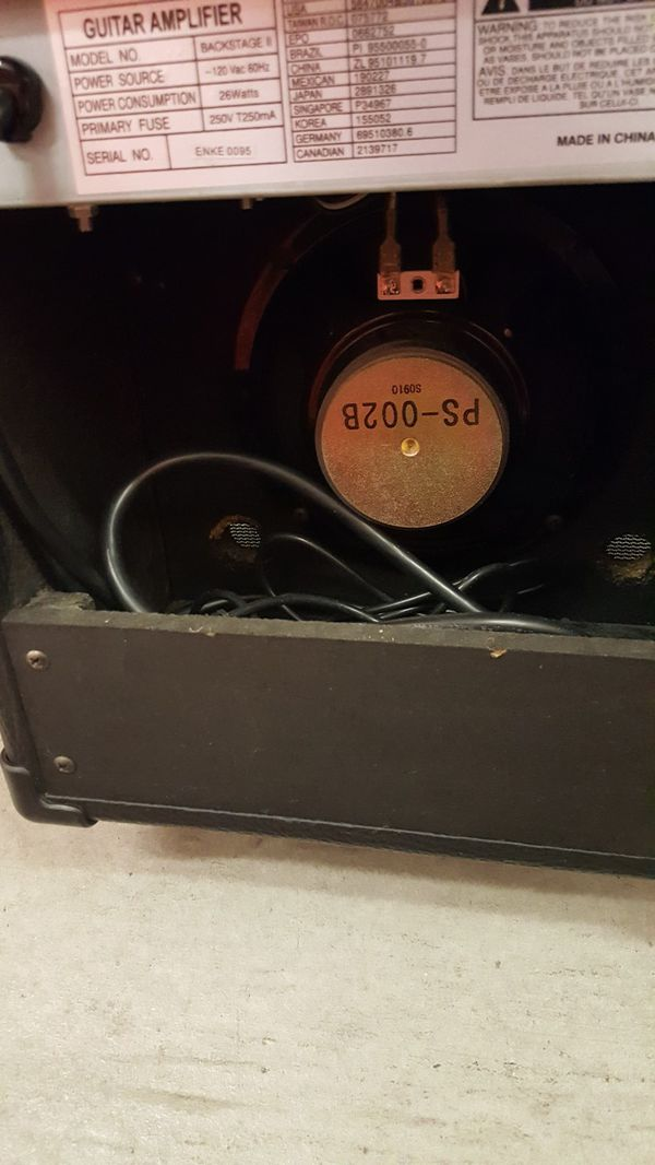 Peavy guitar amp 6in speaker backstage 2