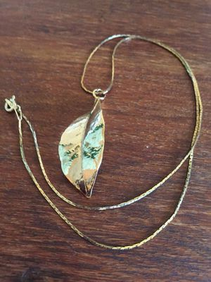 Real Gold Dipped Leaf Pendant Necklace for Sale in Lancaster, CA