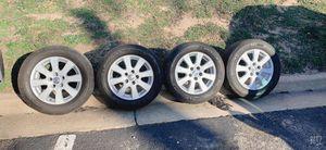 Llantas semi nuevas con Rines cromados para Toyota for Sale in North Potomac, MD