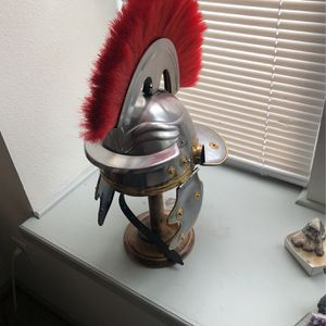 Metal Helmet With Stand for Sale in Arvada, CO