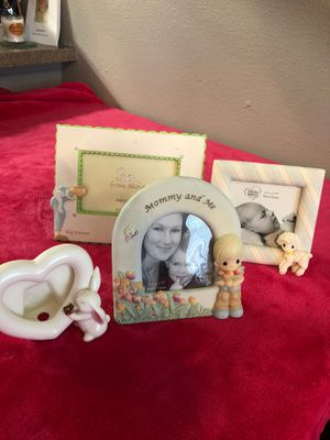 Precious Moments Picture Frames Ceramic all Four $14 for Sale in Round Rock, TX
