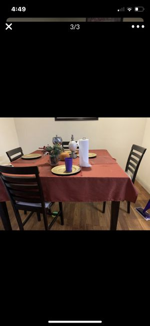 Dinning table four chairs for Sale in Hanford, CA